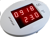 IS-CO2-P prostor.čidlo CO2-5000ppm s LCD zvuk.ALARM/relé s adapterém